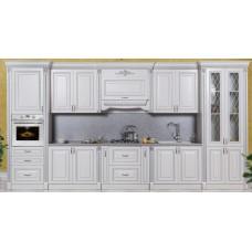 "Кухня ""Аманта""  Белый Серебро от 290см до 459см"