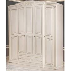 """Шкаф """"Валерия""""  Крем, 5 дверей, С зеркалами и без"""
